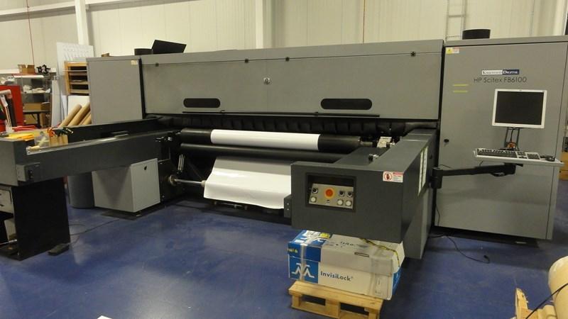 HP FB6100 UV ink jet printer 8/c + white ink option