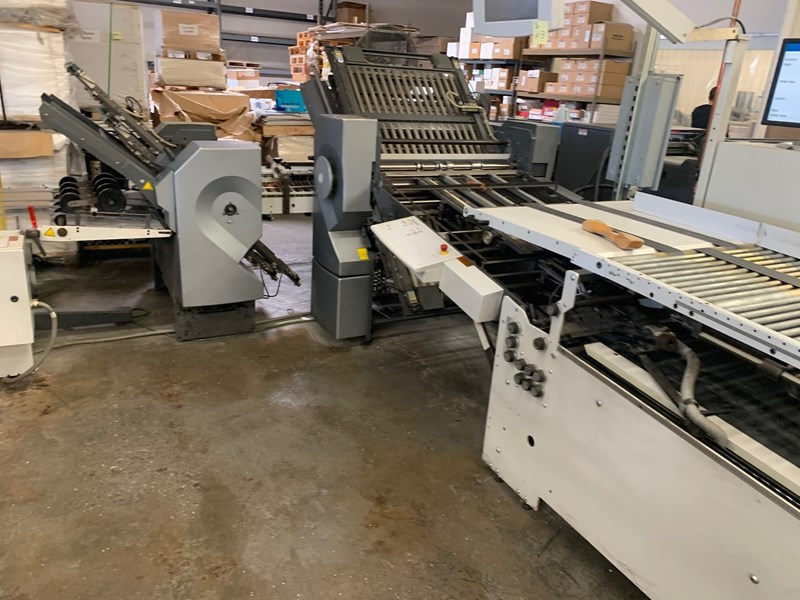 2005 Stahl RFH82 4/4 Continuous High Speed Folder with SKP88 Heidelberg Presser and Heidelberg VFZ-52 Knife Folder