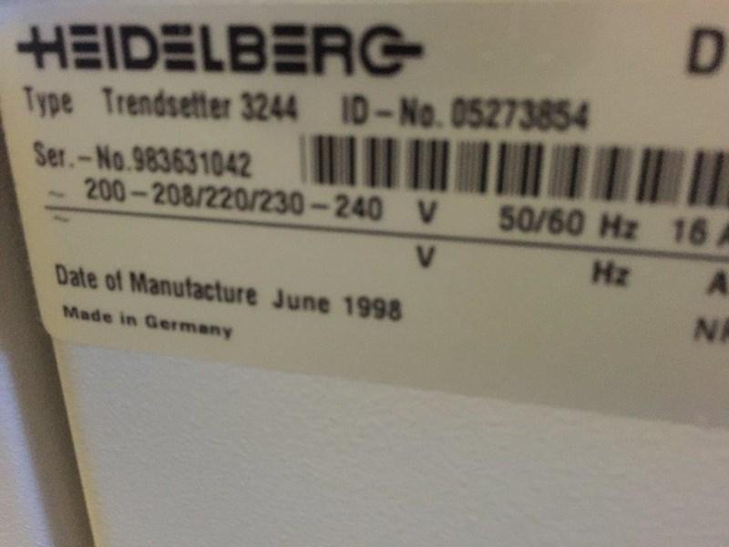 Heidelberg Trendsetter 3244