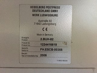 Heidelberg 2 folding unit 2.BUH-82 - 6 pockets