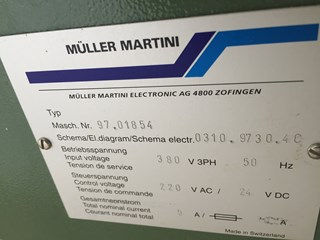 Müller Martini stacker 310
