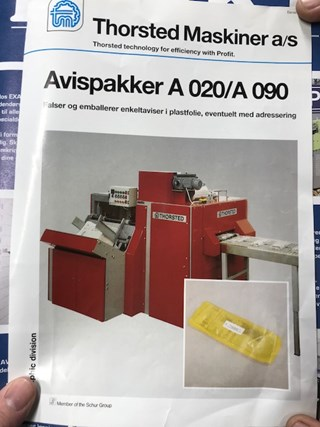 Thorsted A020 Newspaper Folding and packing machine