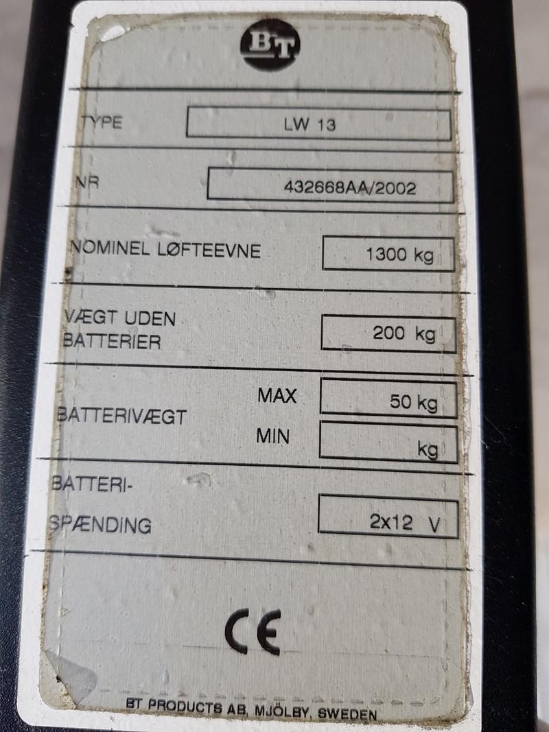 BT elektrisk Pallet Lifter 1300KG