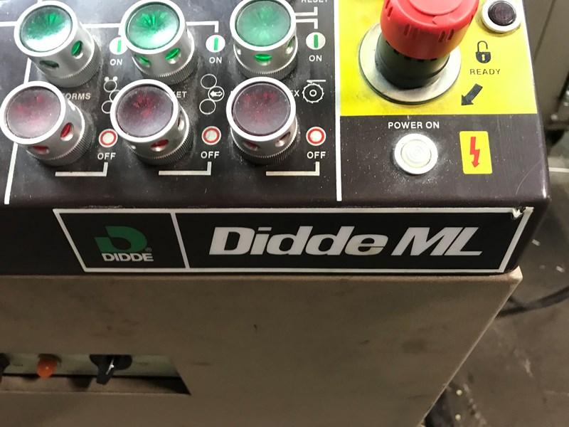 "Didde ML 4 narrow web 1994 17"" X 17.5"" Wide"