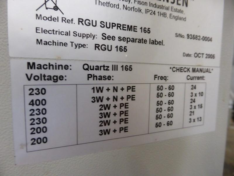 Glunz & Jensen RGU Supreme 165 Rinse/gum unit