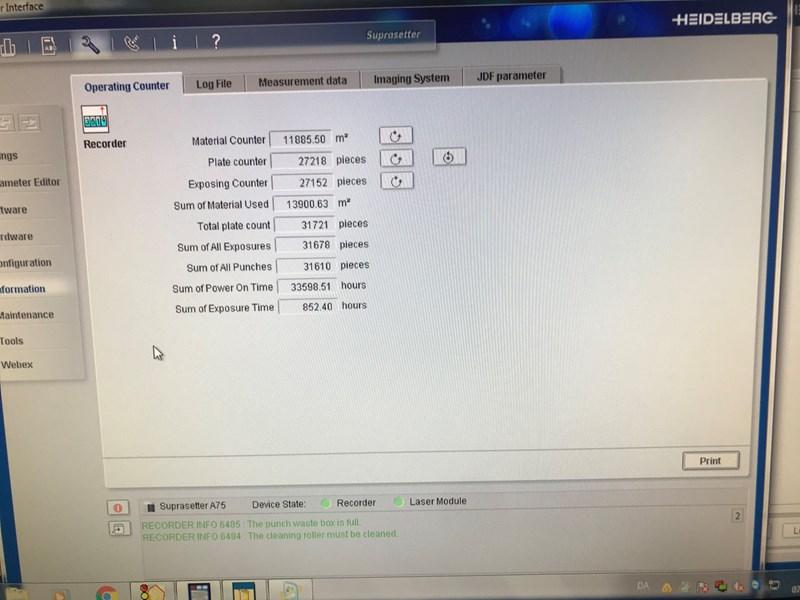 Heidelberg Suprasetter A74  Gen.lll laser only 857 Hours!  2013
