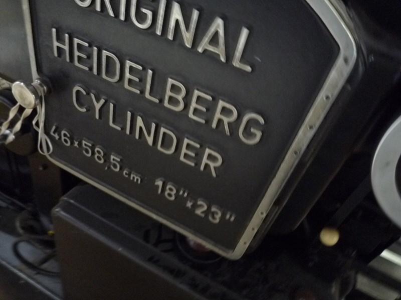 Heidelberg Cylinder KSBA  46 X 58,5cm.