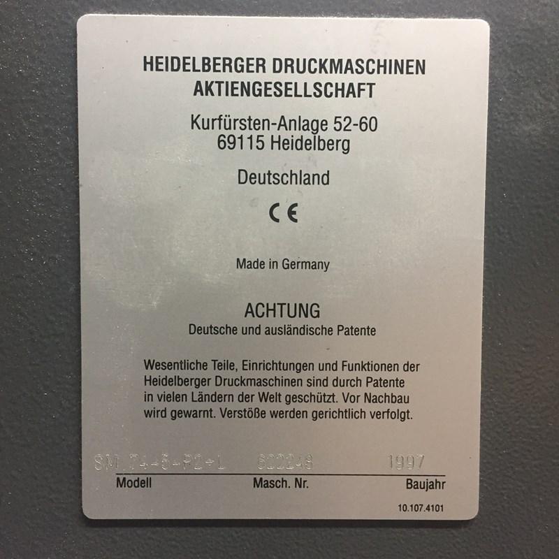 Heidelberg SM 74-5-P2+L 89 mil Imp