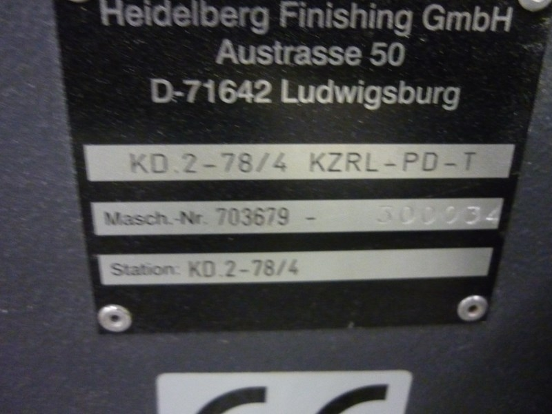 Heidelberg / Stahl KD.2-78/4 KZRL-PD-T (32 pages!)