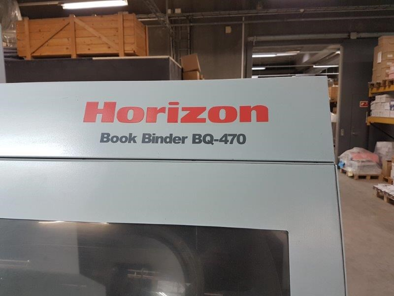 Horizon BQ-470 Perfect binder line