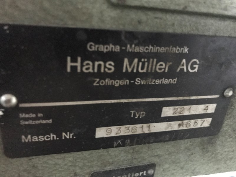 Müller Martini 221/7 Saddle stiching line