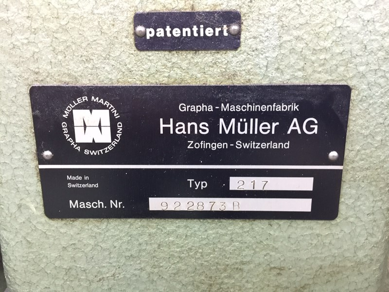 Müller Martini 221/4 with 3 knife trimmer