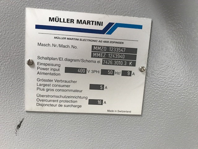 Müller Martini Forte Stacker