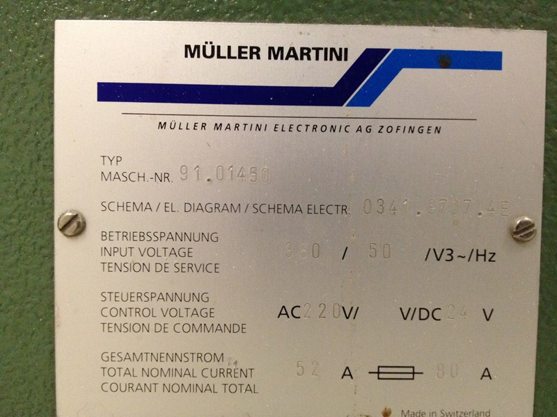 Müller Martini Rotationstrimmer 341