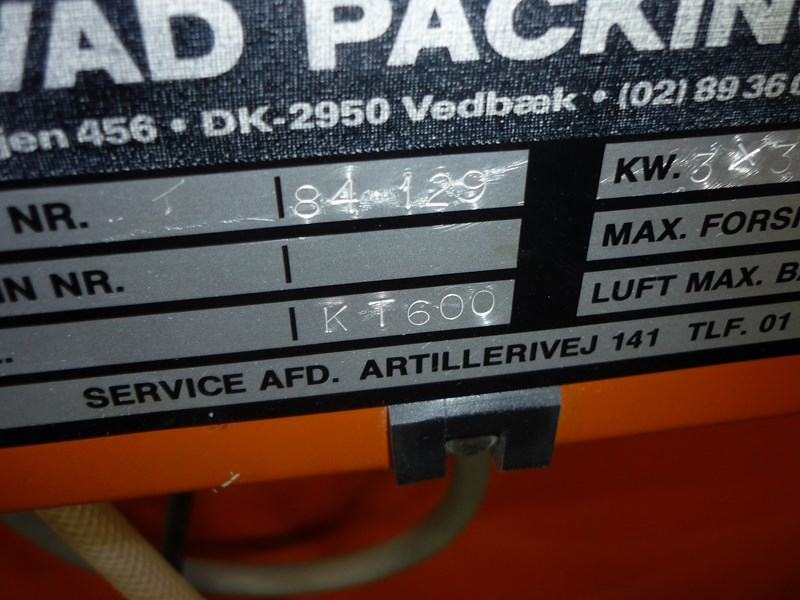 Auto shrink wrapping KT 600 pilvad