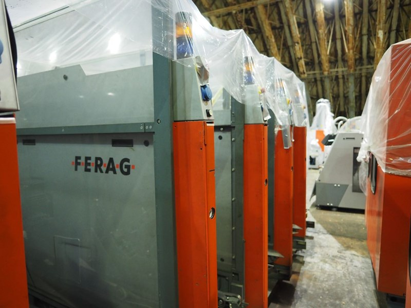 A Ferag mailroom system with inserting and MTD.