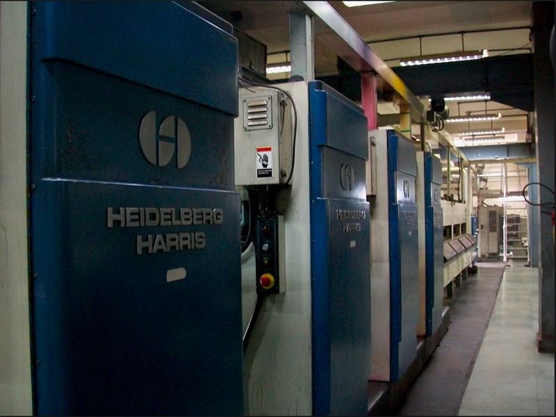 Heidelberg Harris  N400B 546mm cut-off size.
