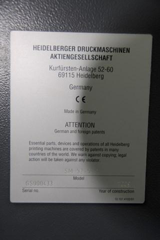 Heidelberg Speedmaster SM52-5H