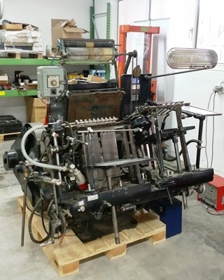 Heidelberg GTS with hot foil