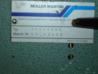 Müller Martini saddle stitcher 300