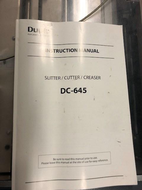 DUPLO DC-645 Slitter/Cutter/Creaser
