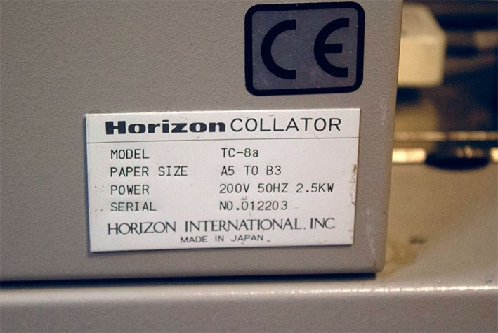 Horizon TC-8, 16 bins Booklet Maker with Stitch/Fold/Trim