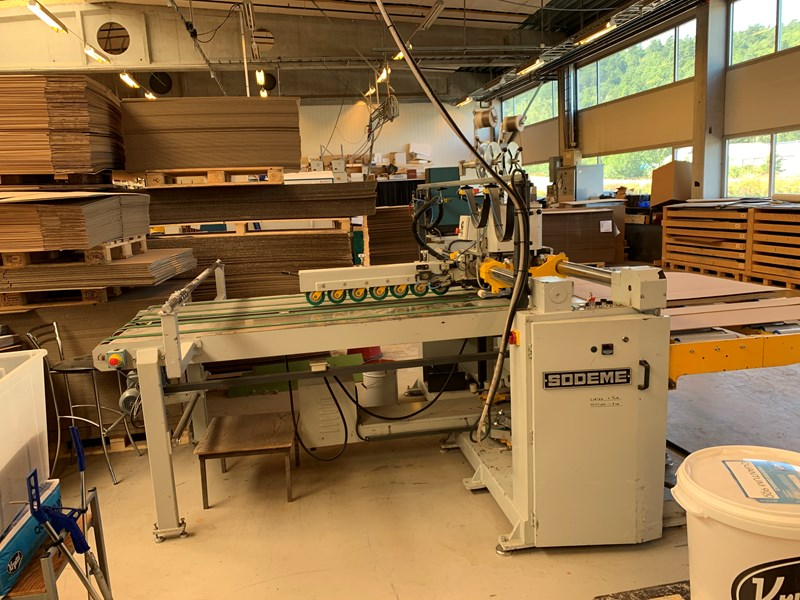 Sodeme OSCIL 4000 Stitcher/Gluer machine for Cardboard boxes
