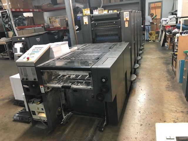 Show details for Heidelberg Offset press Model SM 52-5P3-H Built 2001 CP 2000 Alcolor Auotplate All washers High pile delivery IR Dryer About 65 Mio. impressions Perfecting 2/3