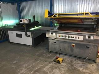 CODAS Seristar screen silk coating machine with UV dryer