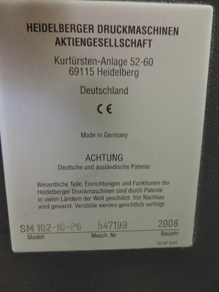 Heidelberg Speedmaster SM 102 10P