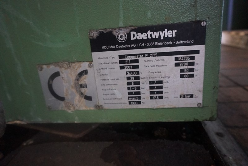 Piedmont Auto Sales >> Used MDC-Max Dätwyler AG Copperstar P2715 Electroplating ...