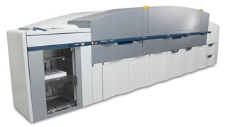 NexPress 2500 with fifth color (Dimensional-Ink or Glossing) with Nexglosser
