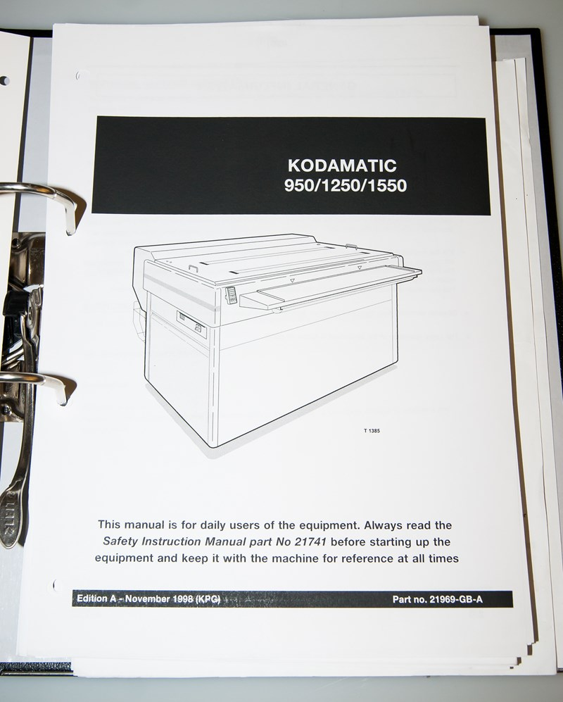 Kodak Polychrome Kodamatic 950/1250/1550 Handbuch