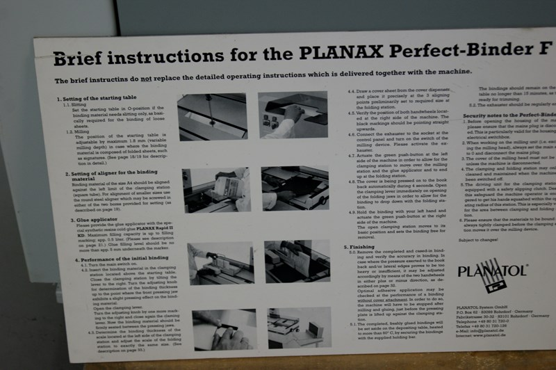 Planatol Planax Perfect-Binder F II