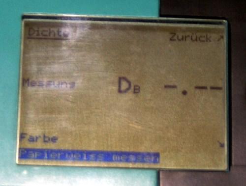 GretagMacbeth Densitometer Model D19C 47B/P inklusive gretagmacbeth Kalibrationskarte