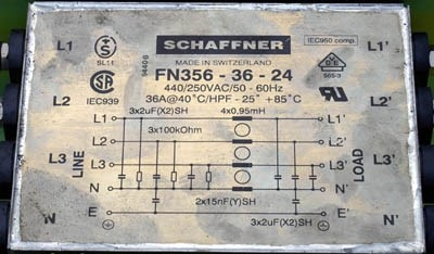 Xeikon DCP 32 Schaffner FN356-36-24 Systemfilter