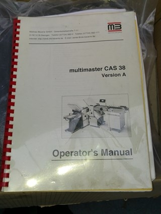 MB Multimaster CAS 38 Folding Machine
