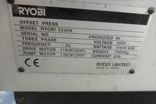 Ryobi 524 HX Four Colour Offset Press