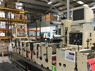 Mark Andy 2200 10E 6-colour Flexographic Label Printing Press With 3 Rotary Die Cutters And Anilox Rollers