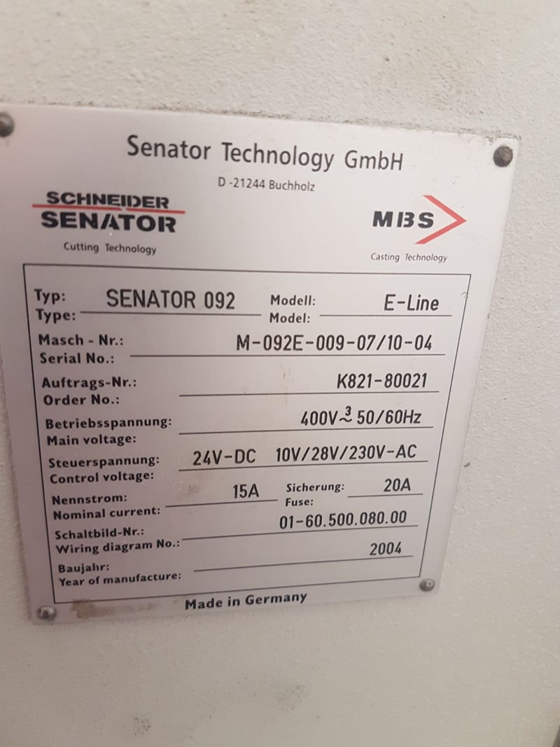 Schneider Senator 92 Guillotine  Year 2004