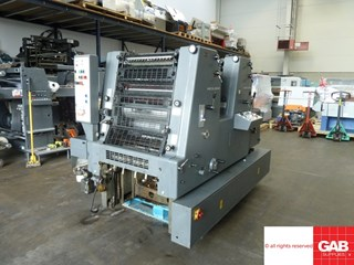 Heidelberg GTO ZP 52 two colour offset printing machine
