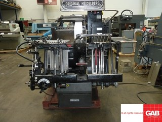 Heidelberg GTP Platen with Hot Foiling