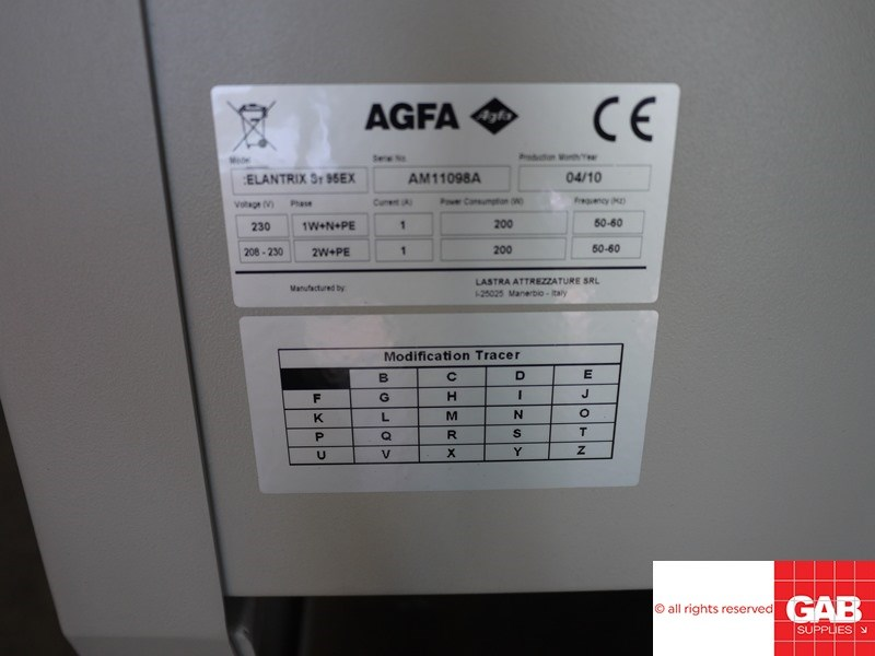 Agfa Elantrix plate stcker