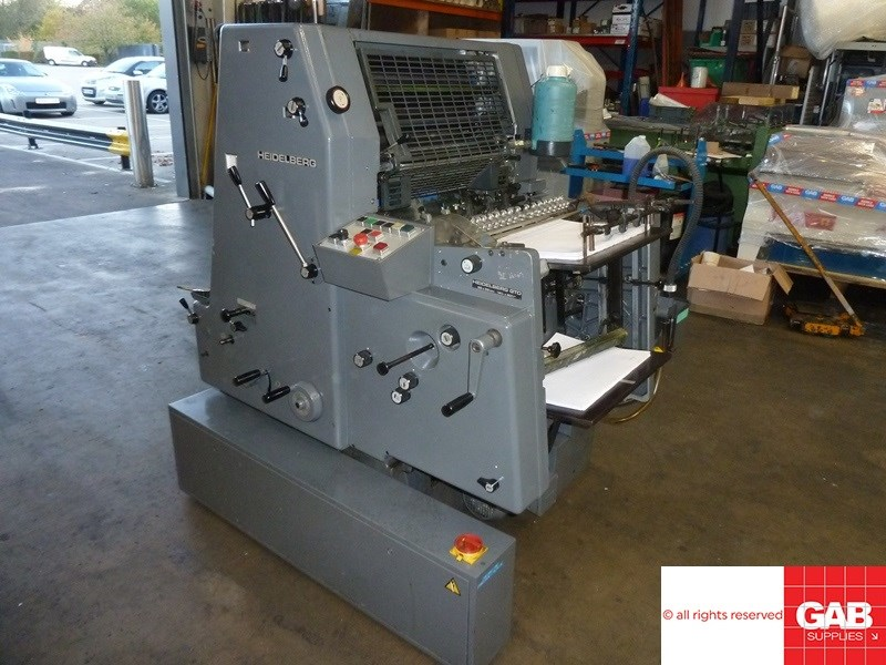 Heidelberg GTO 52 offset with numbering unit