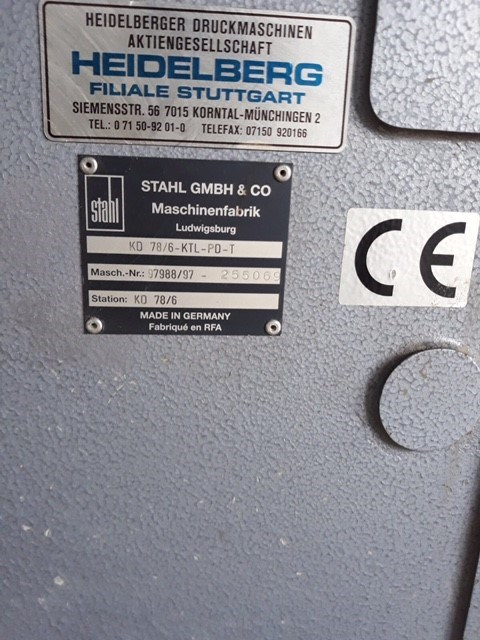 Heidelberg/Stahl Heidelberg STAHLFOLDER KD 78/6 KTL