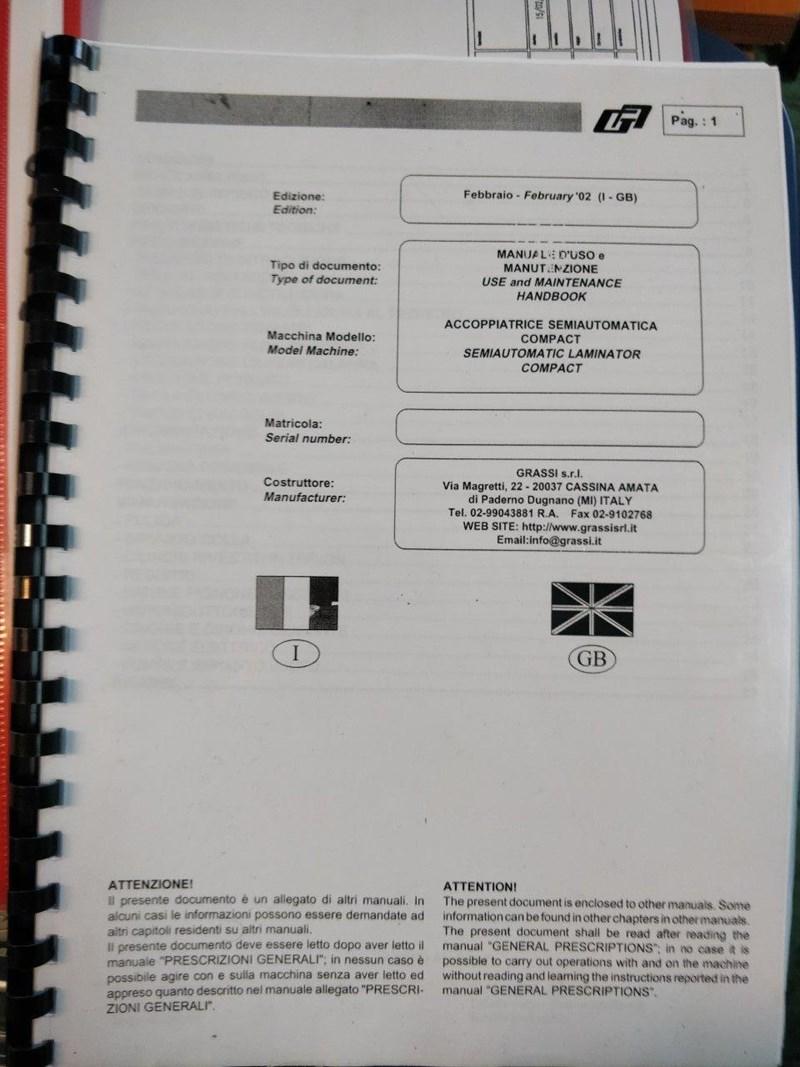 GRASSI SEMIAUTO. COMPACT 470/REV